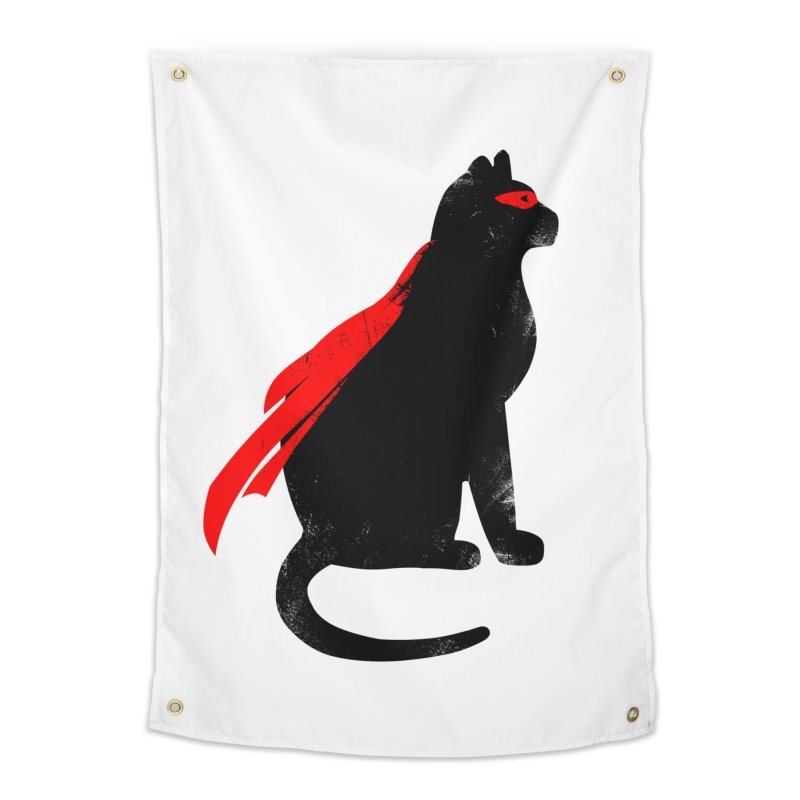 Super Hero cat Home Tapestry by clingcling's Artist Shop