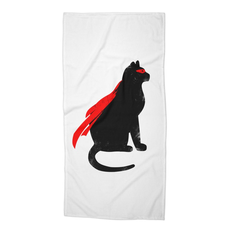 Super Hero cat Accessories Beach Towel by clingcling's Artist Shop