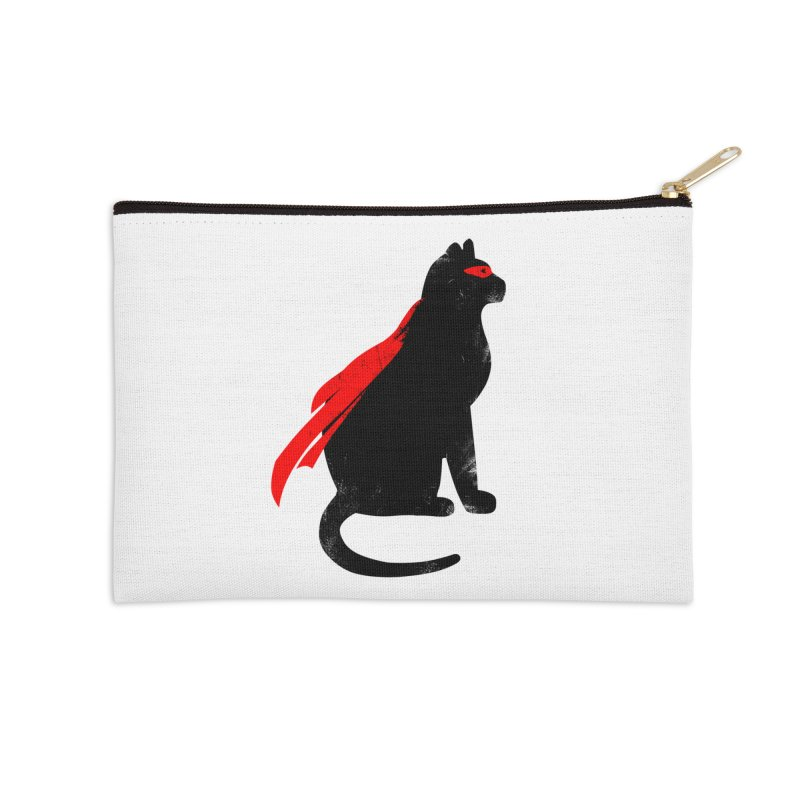 Super Hero cat Accessories Zip Pouch by clingcling's Artist Shop