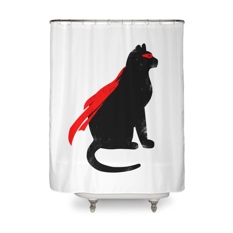 Super Hero cat Home Shower Curtain by clingcling's Artist Shop