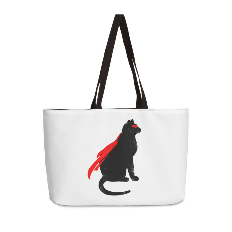 Super Hero cat Accessories Weekender Bag Bag by clingcling's Artist Shop