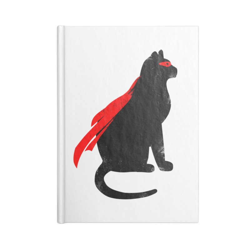 Super Hero cat Accessories Blank Journal Notebook by clingcling's Artist Shop