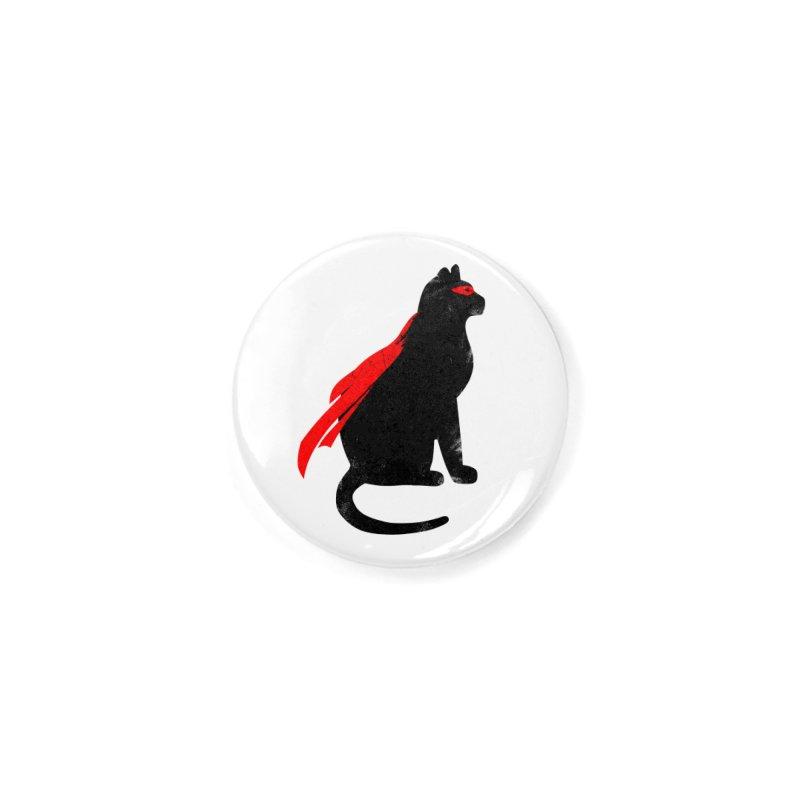 Super Hero cat Accessories Button by clingcling's Artist Shop