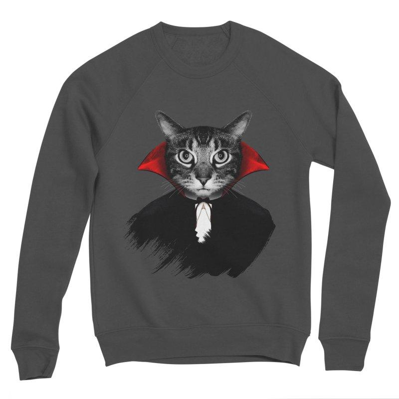 Vampire cat Women's Sponge Fleece Sweatshirt by clingcling's Artist Shop