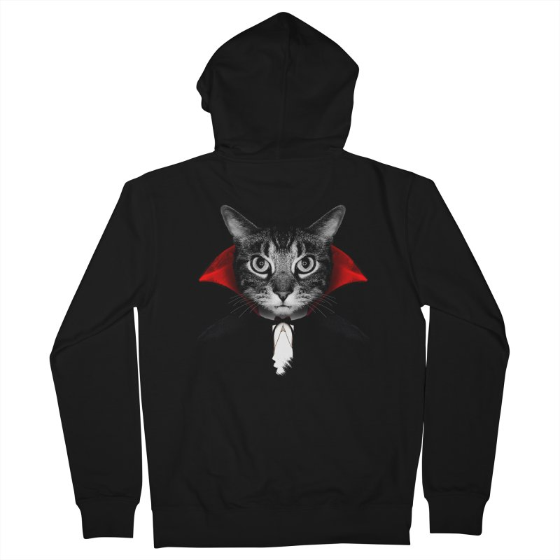 Vampire cat Men's French Terry Zip-Up Hoody by clingcling's Artist Shop