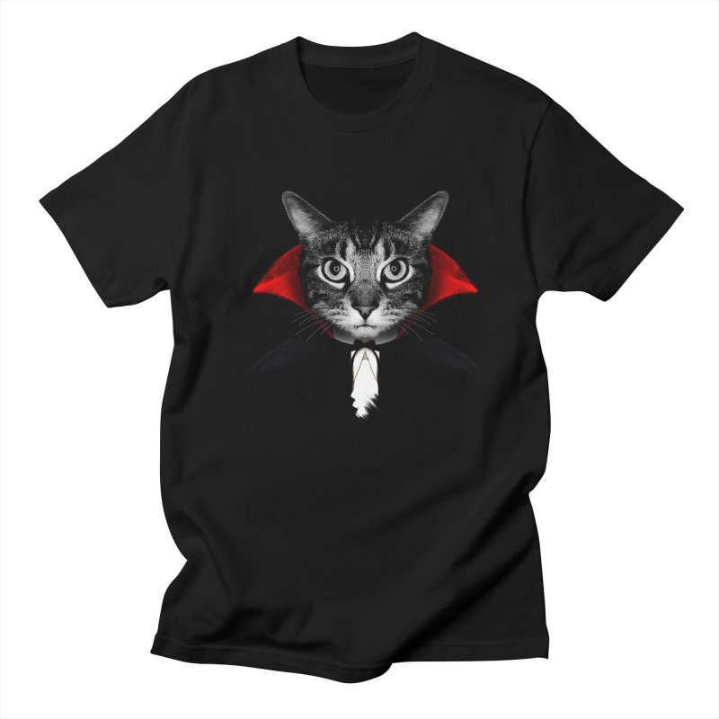 Vampire cat Men's Regular T-Shirt by clingcling's Artist Shop