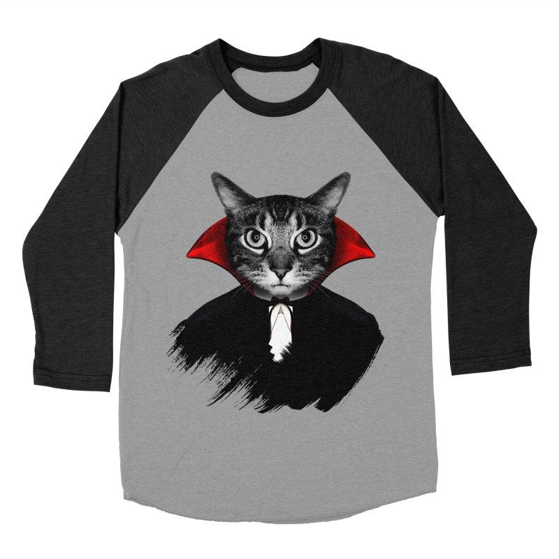 Vampire cat Men's Baseball Triblend Longsleeve T-Shirt by clingcling's Artist Shop