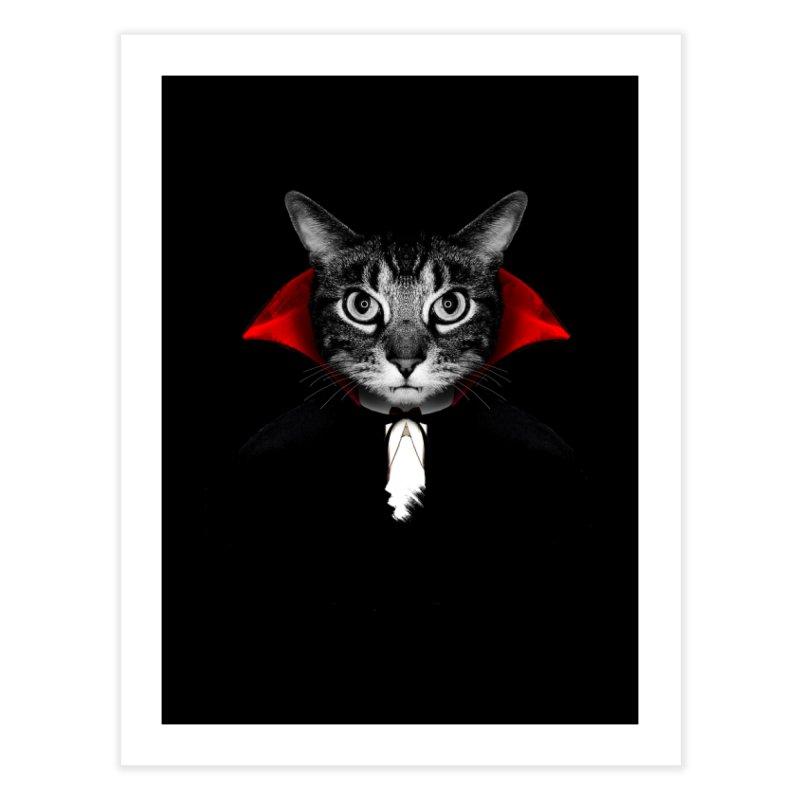Vampire cat Home Fine Art Print by clingcling's Artist Shop