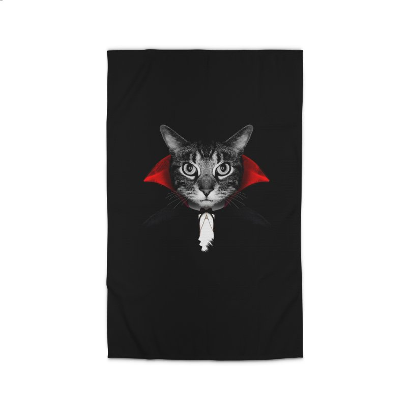 Vampire cat Home Rug by clingcling's Artist Shop
