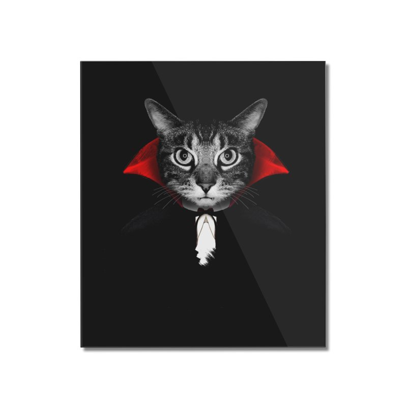 Vampire cat Home Mounted Acrylic Print by clingcling's Artist Shop