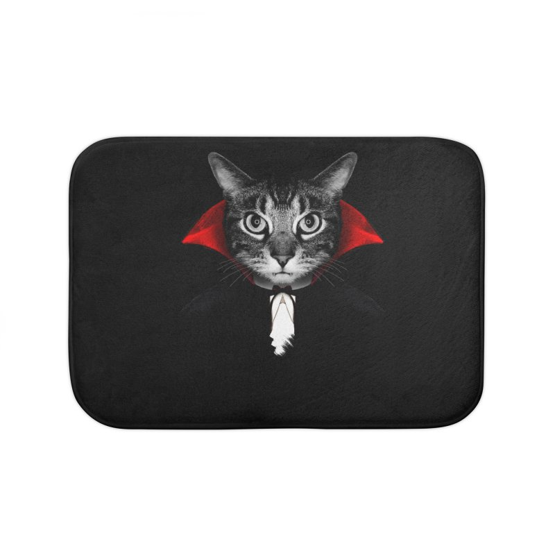 Vampire cat Home Bath Mat by clingcling's Artist Shop