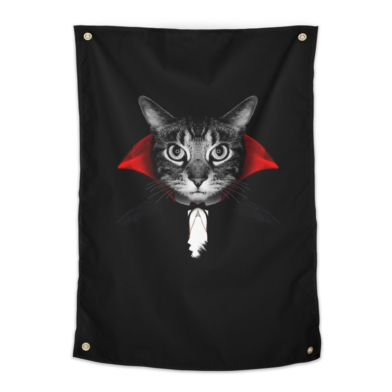 Vampire cat Home Tapestry by clingcling's Artist Shop