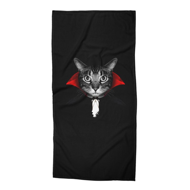 Vampire cat Accessories Beach Towel by clingcling's Artist Shop