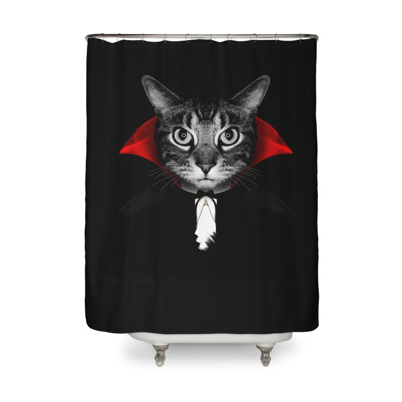 Vampire cat Home Shower Curtain by clingcling's Artist Shop