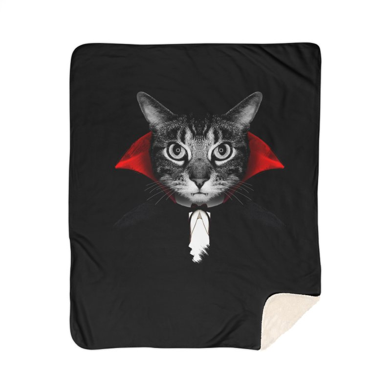 Vampire cat Home Sherpa Blanket Blanket by clingcling's Artist Shop