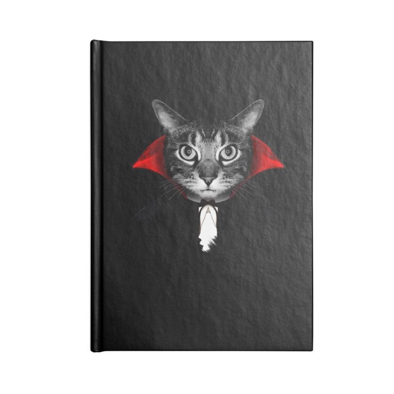 Vampire cat Accessories Blank Journal Notebook by clingcling's Artist Shop