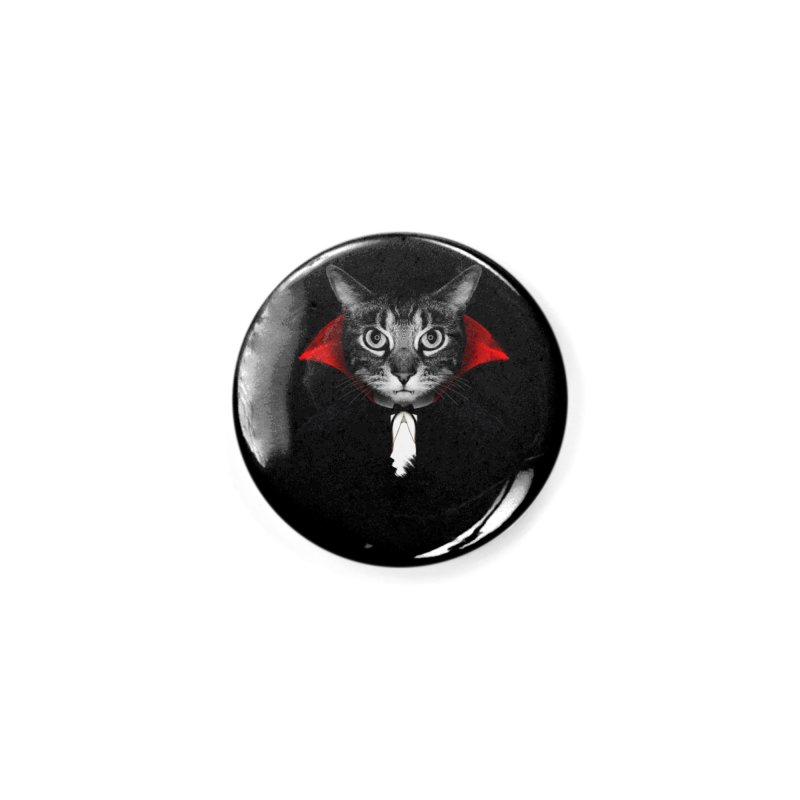 Vampire cat Accessories Button by clingcling's Artist Shop