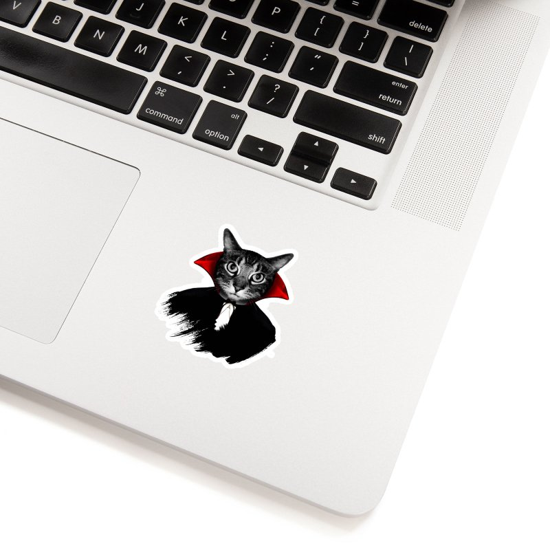 Vampire cat Accessories Sticker by clingcling's Artist Shop