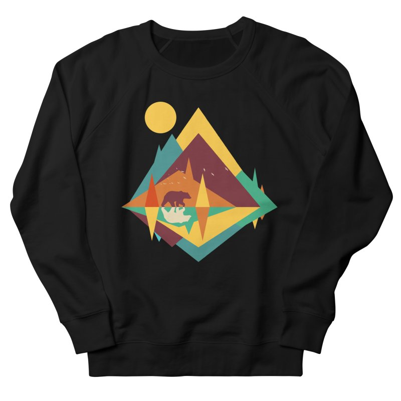 wilderness Women's French Terry Sweatshirt by clingcling's Artist Shop