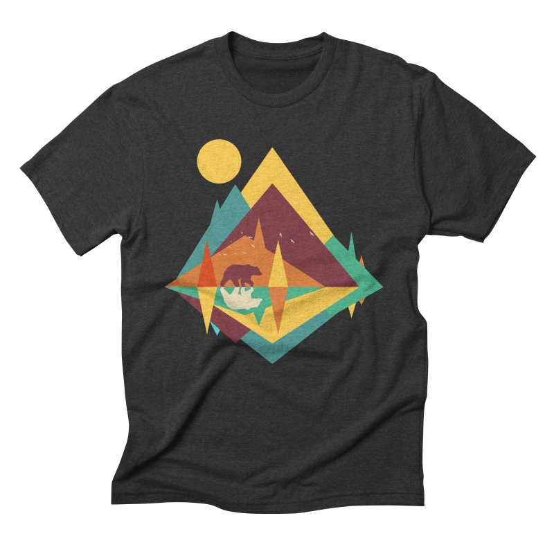 wilderness Men's Triblend T-Shirt by clingcling's Artist Shop