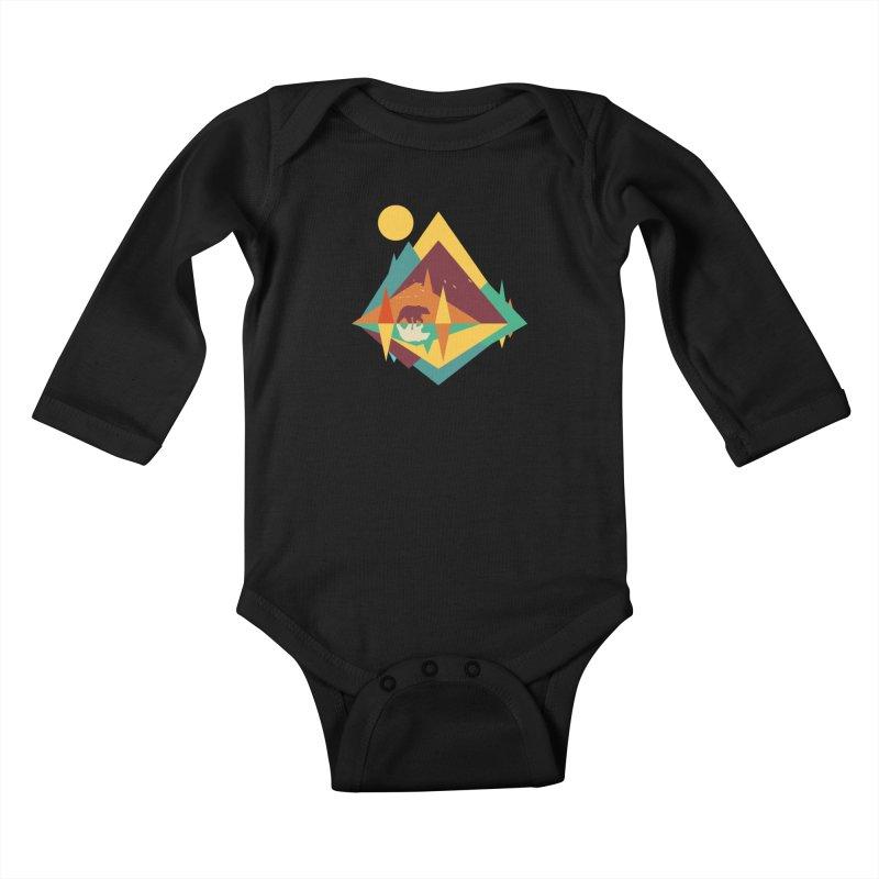 wilderness Kids Baby Longsleeve Bodysuit by clingcling's Artist Shop