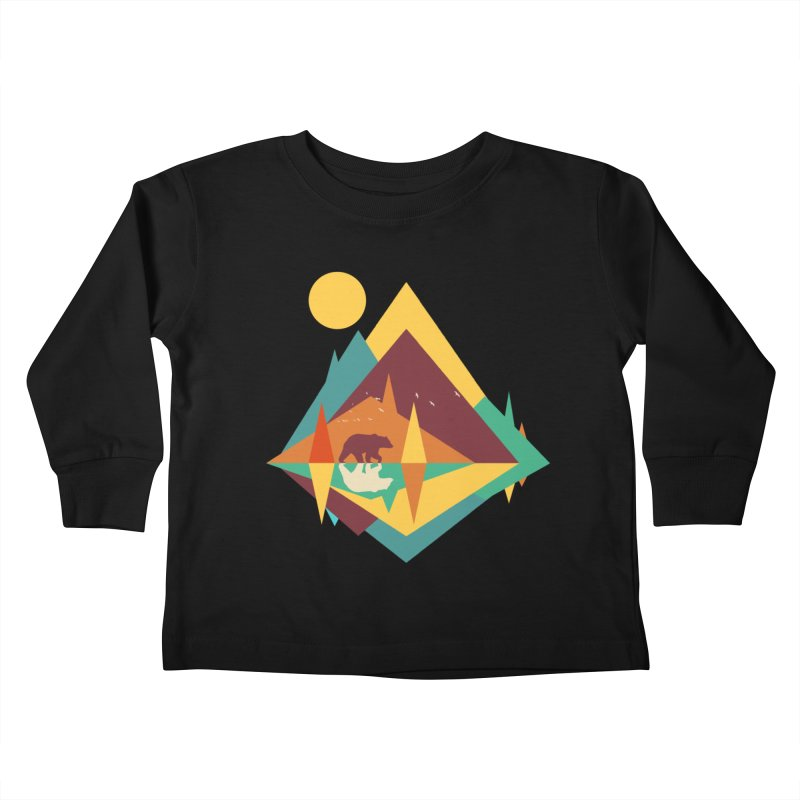 wilderness Kids Toddler Longsleeve T-Shirt by clingcling's Artist Shop