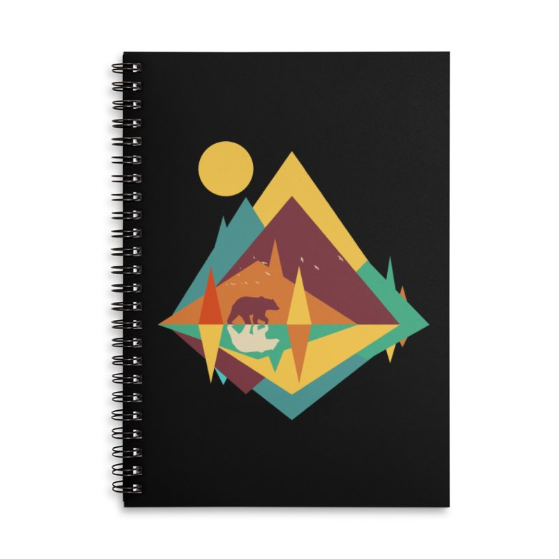 wilderness Accessories Lined Spiral Notebook by clingcling's Artist Shop
