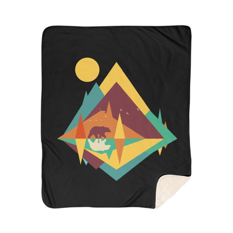 wilderness Home Sherpa Blanket Blanket by clingcling's Artist Shop
