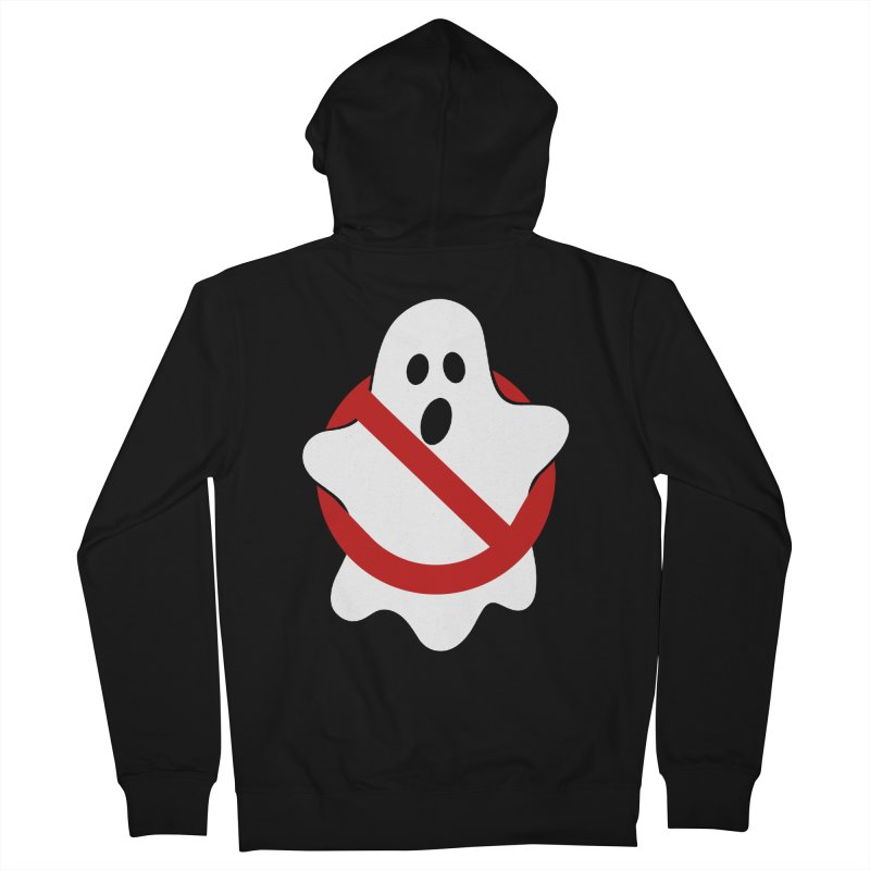 Beware of ghost Men's French Terry Zip-Up Hoody by clingcling's Artist Shop