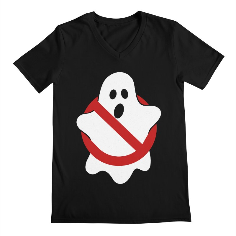 Beware of ghost Men's Regular V-Neck by clingcling's Artist Shop