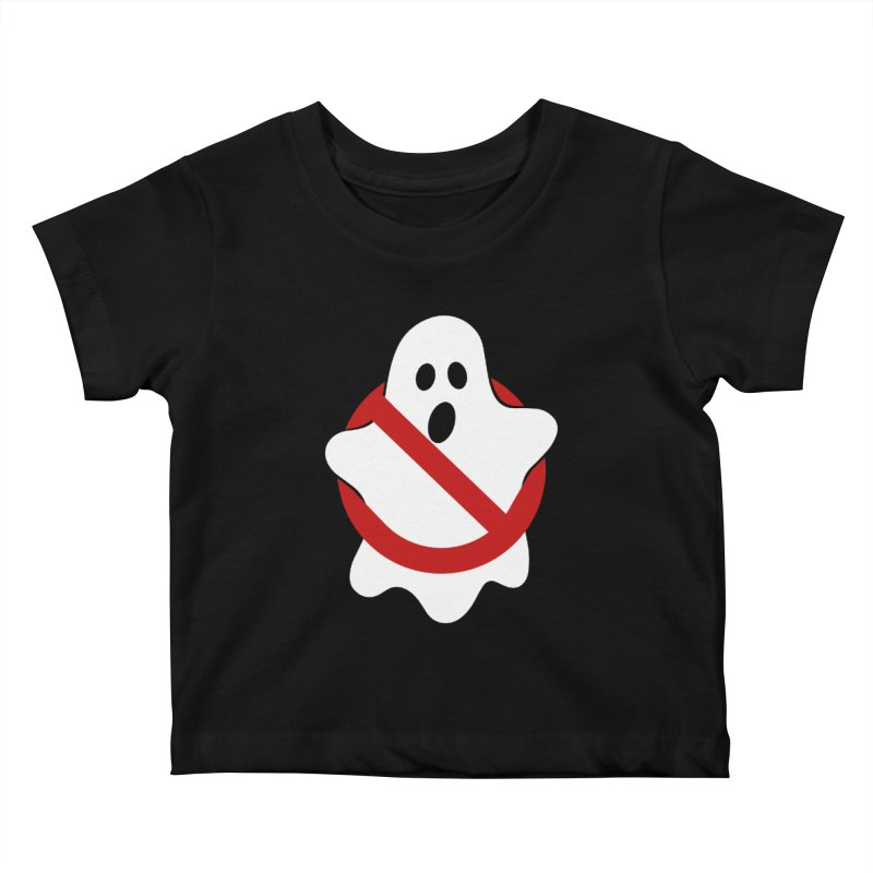 Beware of ghost Kids Baby T-Shirt by clingcling's Artist Shop