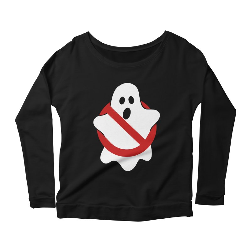 Beware of ghost Women's Scoop Neck Longsleeve T-Shirt by clingcling's Artist Shop