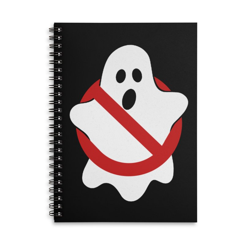 Beware of ghost Accessories Lined Spiral Notebook by clingcling's Artist Shop
