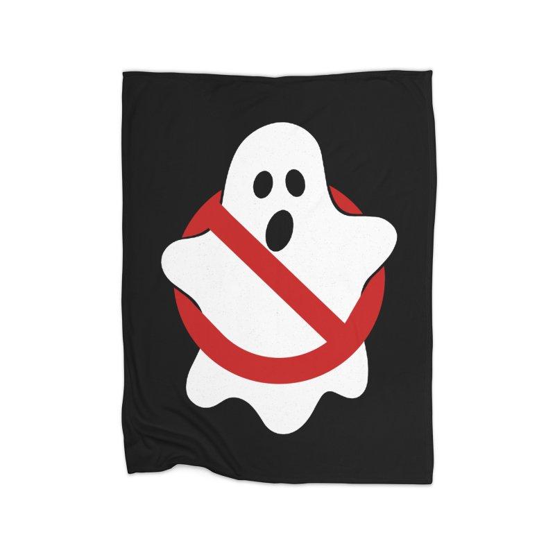 Beware of ghost Home Fleece Blanket Blanket by clingcling's Artist Shop