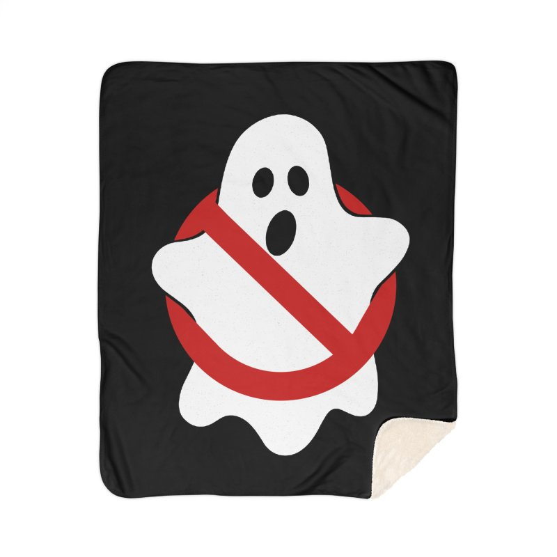Beware of ghost Home Sherpa Blanket Blanket by clingcling's Artist Shop
