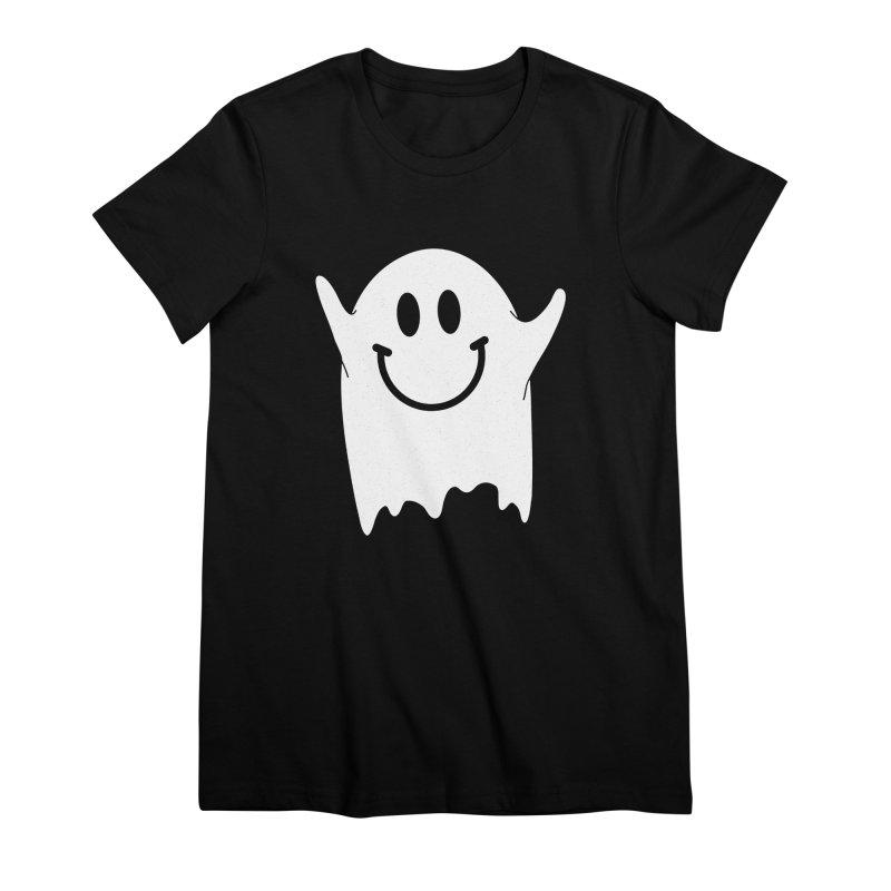 Happy ghost Women's Premium T-Shirt by clingcling's Artist Shop