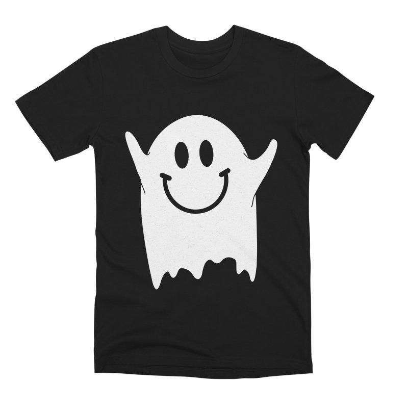 Happy ghost Men's T-Shirt by clingcling's Artist Shop