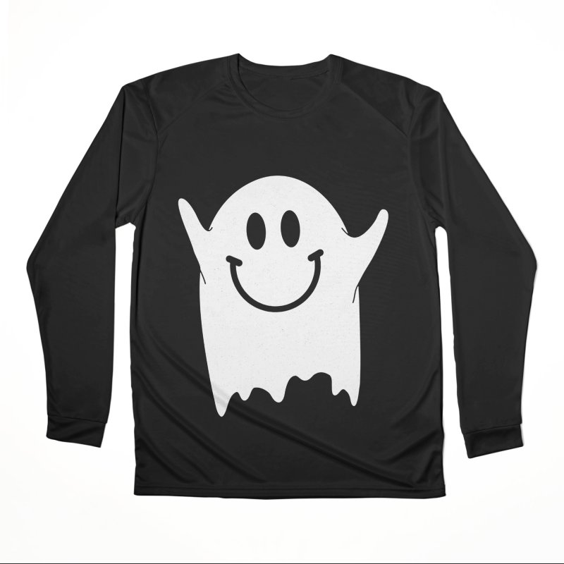 Happy ghost Men's Performance Longsleeve T-Shirt by clingcling's Artist Shop