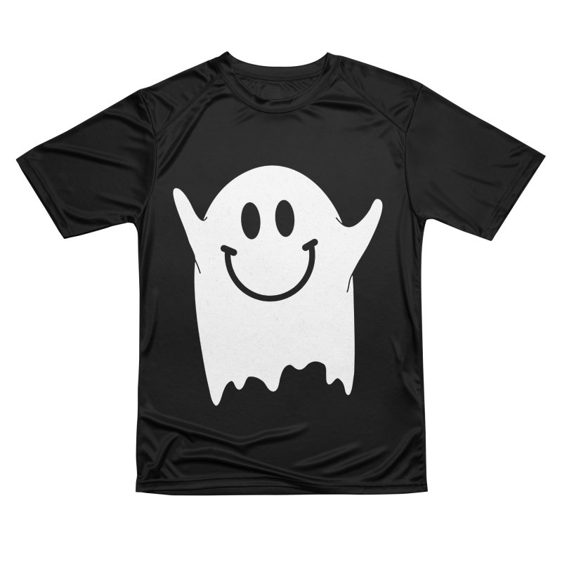 Happy ghost Women's Performance Unisex T-Shirt by clingcling's Artist Shop