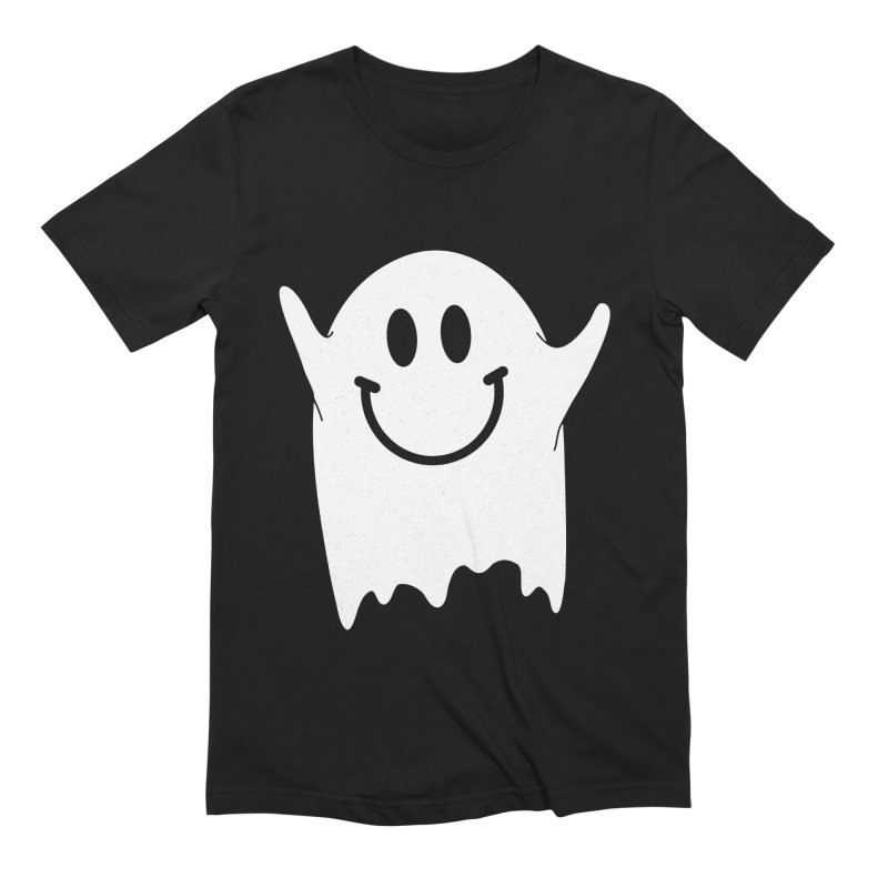 Happy ghost Men's Extra Soft T-Shirt by clingcling's Artist Shop