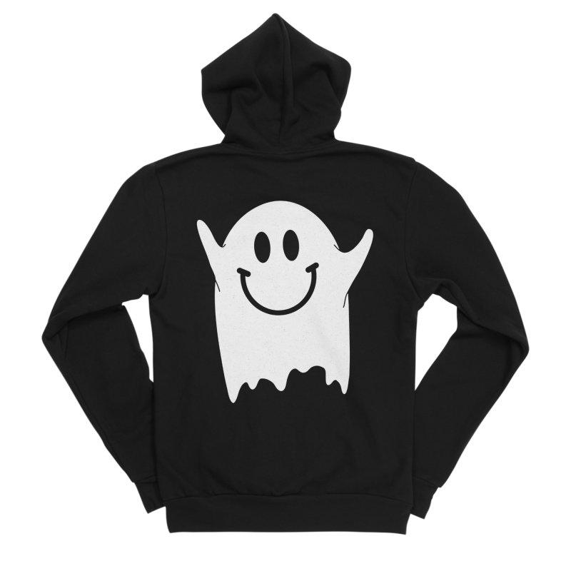 Happy ghost Men's Sponge Fleece Zip-Up Hoody by clingcling's Artist Shop