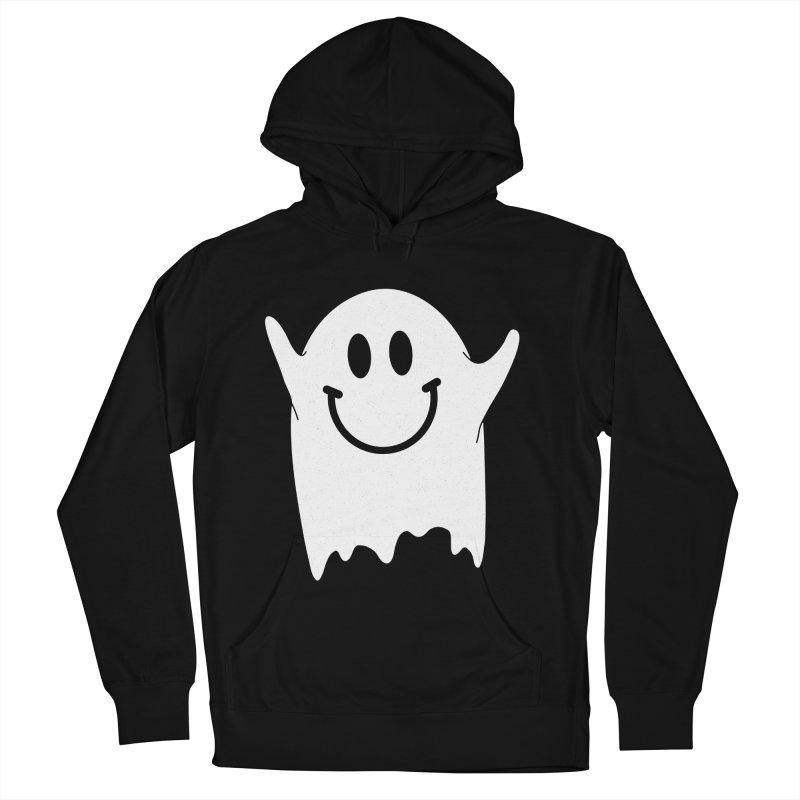 Happy ghost Men's French Terry Pullover Hoody by clingcling's Artist Shop