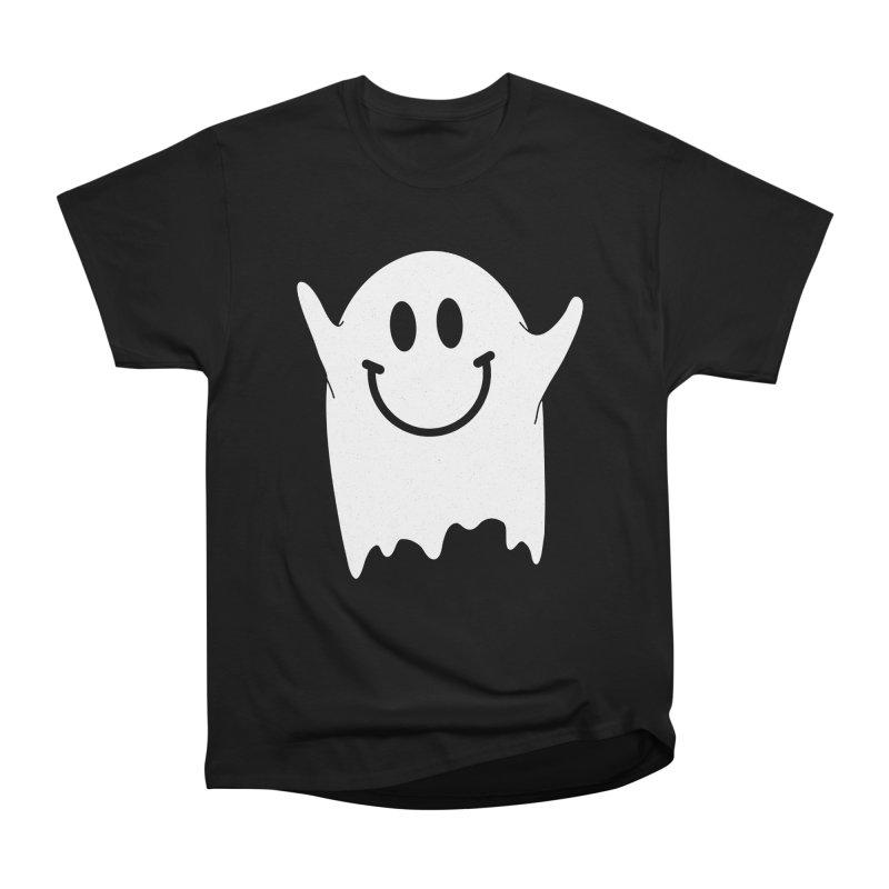 Happy ghost Women's Heavyweight Unisex T-Shirt by clingcling's Artist Shop