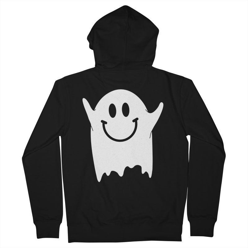 Happy ghost Men's French Terry Zip-Up Hoody by clingcling's Artist Shop
