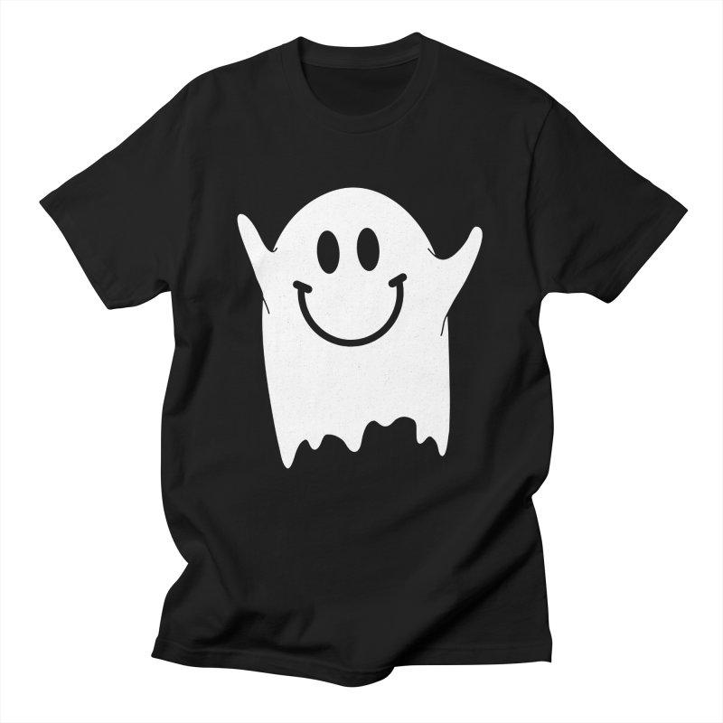 Happy ghost Men's Regular T-Shirt by clingcling's Artist Shop