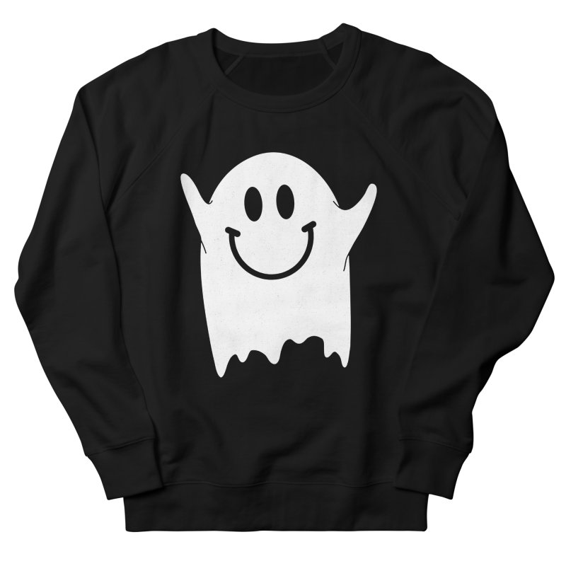 Happy ghost Women's French Terry Sweatshirt by clingcling's Artist Shop