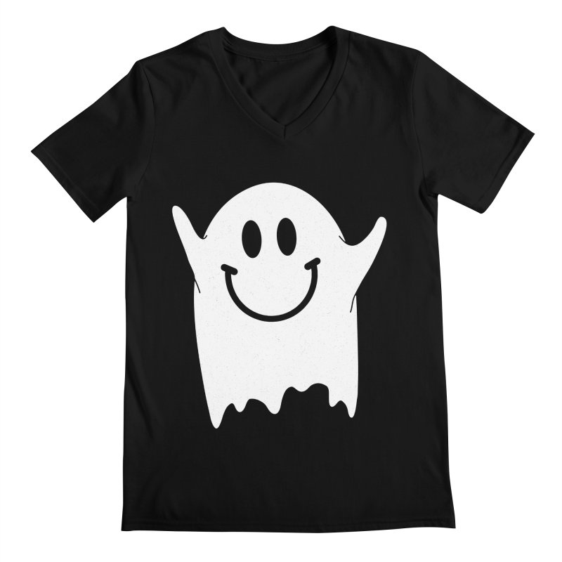 Happy ghost Men's Regular V-Neck by clingcling's Artist Shop