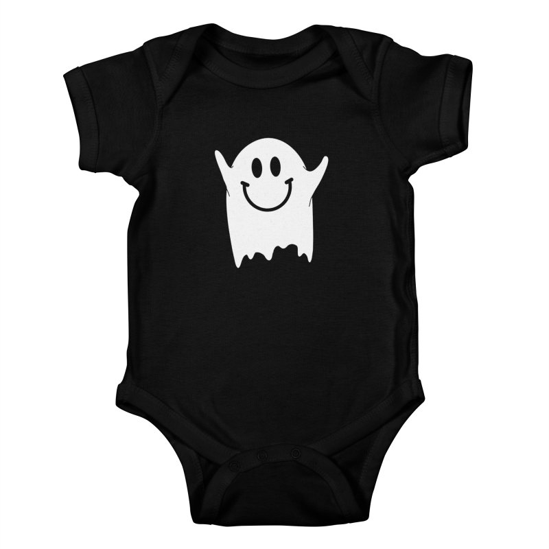 Happy ghost Kids Baby Bodysuit by clingcling's Artist Shop