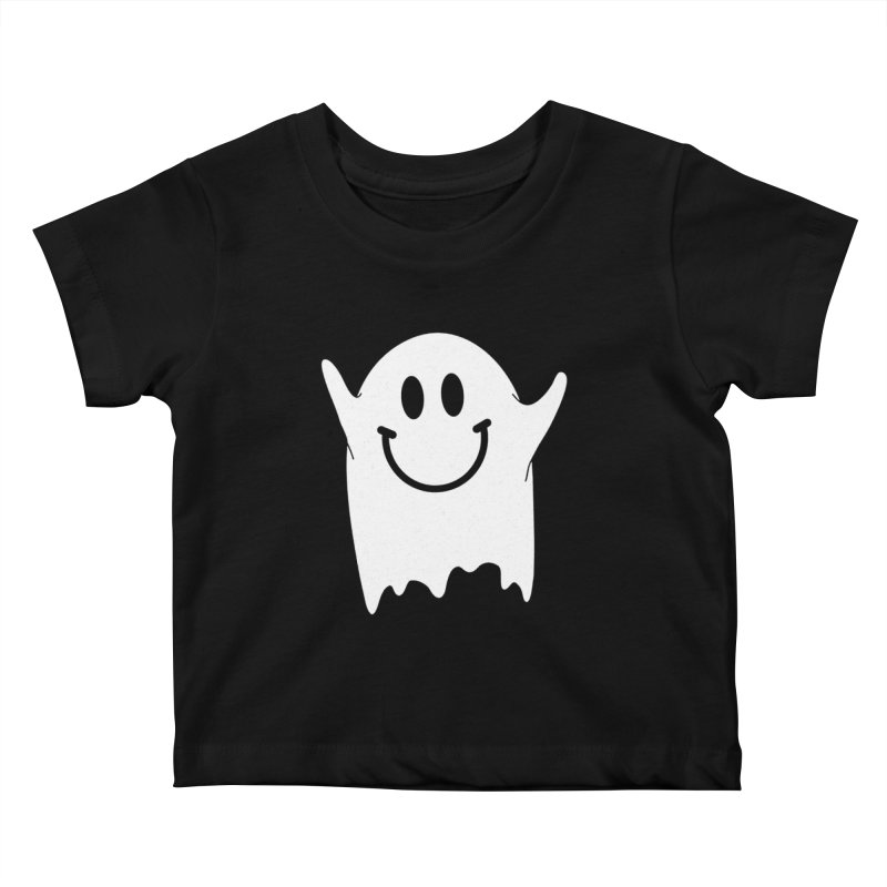 Happy ghost Kids Baby T-Shirt by clingcling's Artist Shop