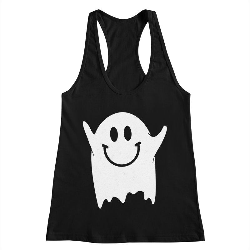 Happy ghost Women's Racerback Tank by clingcling's Artist Shop